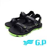 G.P (男女共用款) 磁扣可調式 涼拖鞋-綠 (另有黑紅、藍)