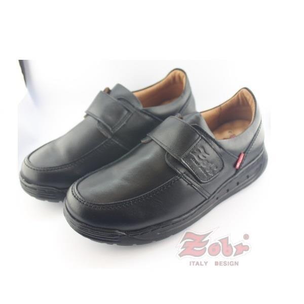 【南紡購物中心】ZOBR路豹 紳士真皮雙彈力氣墊休閒鞋黑款 U263A