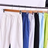 棉麻直筒褲子女2020春秋新款高腰寬鬆顯瘦百搭闊腿休閒拖地長褲夏 小宅女