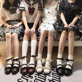618大促低跟梅露露 綿羊泡芙原創Lolita鞋日系花邊圓頭學生鞋
