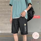 牛仔短褲男夏季大碼寬松破洞五分褲中褲薄款直筒【大碼百分百】