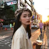 網紅同款貝雷帽復古豹紋畫家帽子百搭港風個性兔毛絨蓓蕾帽女秋冬