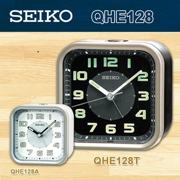 CASIO 手錶專賣店 SEIKO 精工 鬧鐘  QHE128T/QHE128 精緻型靜音式秒針 貪睡功能