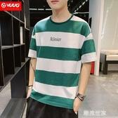 男士短袖t恤2020夏季新款韓版潮流百搭寬鬆潮休閒純棉T恤打底衫『潮流世家』