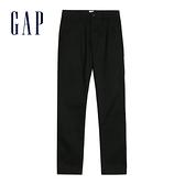 Gap男裝棉質微彈直筒型休閒褲500360-正黑色