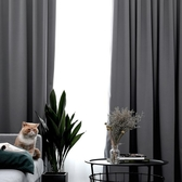 遮光窗簾 落地窗簾短窗簾窗簾桿 百葉窗簾成品窗簾 寬200x高270公分 素色全遮光窗簾推薦