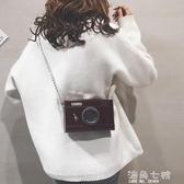 搞怪小包包搞怪小包包女新款個性漆皮相機小方包純色錬條盒子單肩側背包 海角七號