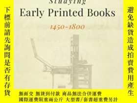 二手書博民逛書店Studying罕見Early Printed Books, 1450-1800Y364153 Sarah W