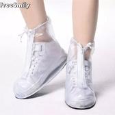 透明低筒情侶男女通用款防雨水成人鞋套防滑底雨鞋套