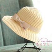 遮陽帽 遮陽沙灘草帽子夏天季女士潮正韓防曬出游蝴蝶結帽太陽涼帽可折疊