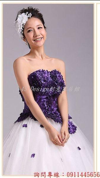 (45 Design) 客製化 預購7天到貨  價迎賓婚紗 主題婚紗 婚紗攝影服裝 主題情侶服裝 影樓婚紗