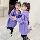 兒童風衣 女童外套秋裝新款正韓中大童洋氣風衣秋款兒童春秋裝中長款潮 嬡孕哺