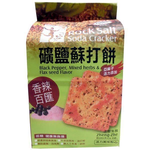 正哲 礦鹽蘇打餅(香辣百匯) 380g±3%/袋 (每袋6小包入)