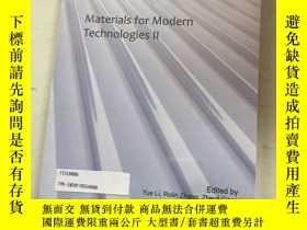 二手書博民逛書店materials罕見for modern technologies 現代技術材料Y25607 materia