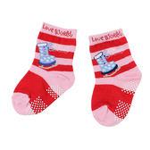 【愛的世界】溜冰鞋圖案止滑透氣短襪/9~17CM-台灣製- ★童鞋童襪