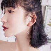 S925銀鈴鐺貓系少女耳線女氣質韓國個性簡約長款耳墜小清新耳釘【櫻花本鋪】