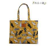 文件袋 包包 防水包 雨朵小舖 M453-018 OL文件提袋-黃條紋點點喵10099 funbaobao