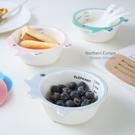 創意卡通兒童碗陶瓷碗兒童餐具可愛碗寶寶吃飯小碗家用陶瓷餐具