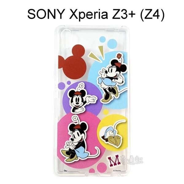 迪士尼透明軟殼 [人物] 米妮 SONY Xperia Z3+ / Z3 Plus (Z4)【Disney正版授權】