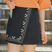 刺繡短裙-春夏復古優雅氣質女裙子73rw15[巴黎精品]