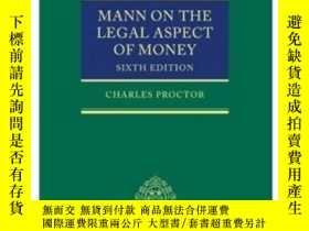 二手書博民逛書店Mann罕見On The Legal Aspect Of Mon