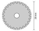 OLFA [虛線切割刀]替換刀片 【PRB28-2】 28mm PRC-3使用之刀片 [2片/包]