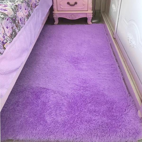 簡約現代可機洗長毛絨地毯客廳茶幾飄窗臥室床邊毯榻榻米地墊滿鋪 享家生活馆 YTL