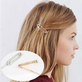 UNICO 歐美俏皮金屬感迴紋針髮夾邊夾-2入
