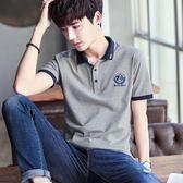 父親節 夏裝男士翻領POLO衫有領帶領短袖t恤男青年韓版修身半袖大碼潮流 米蘭街頭