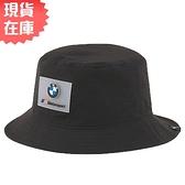 【現貨】PUMA BMW 帽子 漁夫帽 聯名款 賽車 休閒 黑【運動世界】02336401