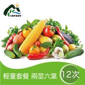 【鮮食優多】花蓮壽豐有機蔬菜箱(輕量套餐)-配送12次