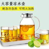 耐高溫玻璃冷水壺涼水杯耐熱大容量防爆透明煮水壺果汁壺1.6L·樂享生活館