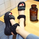 增高涼鞋 仙女風厚底涼鞋女夏新款百搭增高水鑚鬆糕高跟羅馬鞋-Ballet朵朵