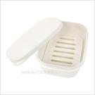 asdfkitty可愛家☆日本INOMATA攜帶式長方型白色肥皂盒-旅行.游泳都好用-適用普通大小肥皂-日本製