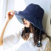 遮陽帽 草帽女防曬拉菲草帽夏出游沙灘帽子女韓版潮太陽帽海邊遮陽帽折疊 3色