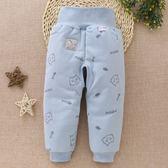 寶寶加厚小棉褲嬰兒純棉絲綿內膽新生兒加絨高腰開襠褲保暖褲冬季 森活雜貨