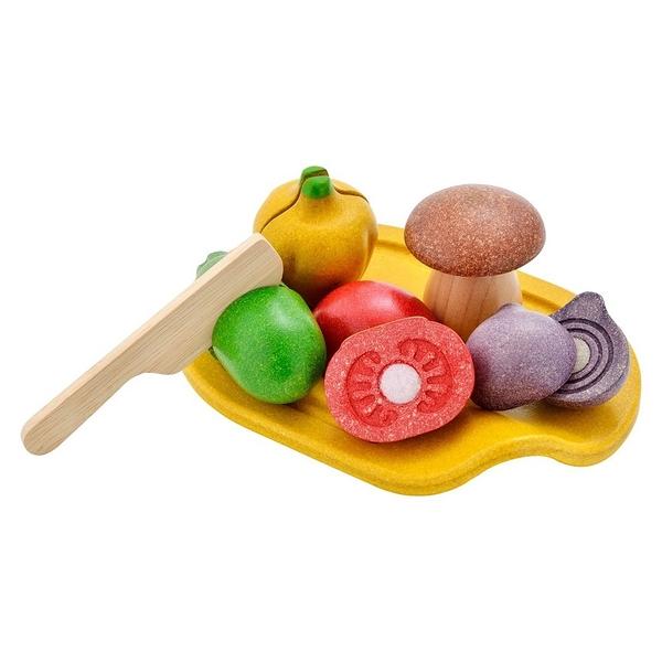 《 泰國 PLAN TOYS 》切切蔬菜盤 / JOYBUS玩具百貨
