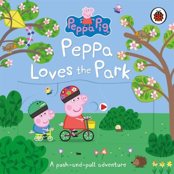 Peppa Pig:Peppa Loves The Park:A Push-And-Pull Adventure 佩佩豬喜歡公園操作書