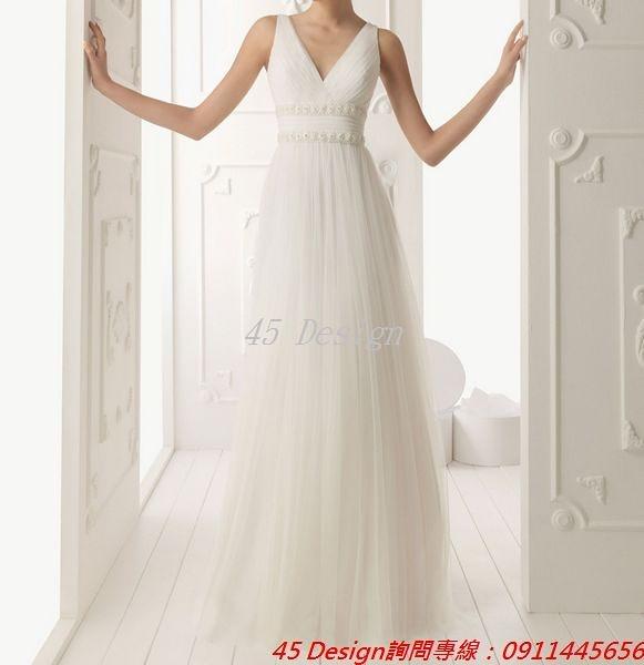 (45 Design) 訂做款式7天到貨 專業訂製款 大尺碼 定做顏色婚紗禮服敬酒服晚宴宴會晚裝禮服 胖MM