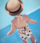 兒童泳衣 2019夏裝新款女童泳衣兒童中小童親子母女露背泳裝女孩寶寶游泳衣