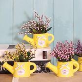 創意歐式復古仿真假花植物盆栽盆景桌面