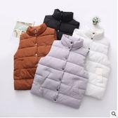 花兔子服飾立領側排釦鋪棉背心外套  42260-M