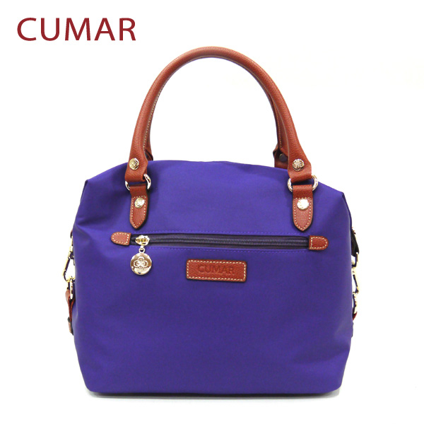 【CUMAR女包】輕量防潑水尼龍2way斜背包-紫