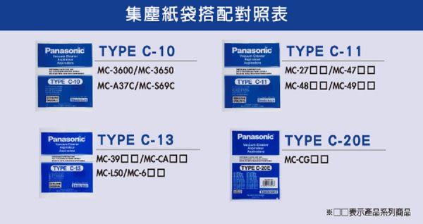 最低$235˙國際牌吸塵器集屑紙袋TYPE-C20E1包(一包內有5個)MC-CG381適用免運費