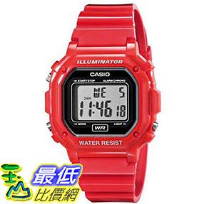 [美國直購] 手錶 Casio F-108WHC-4ACF Classic Red Stainless Steel Watch
