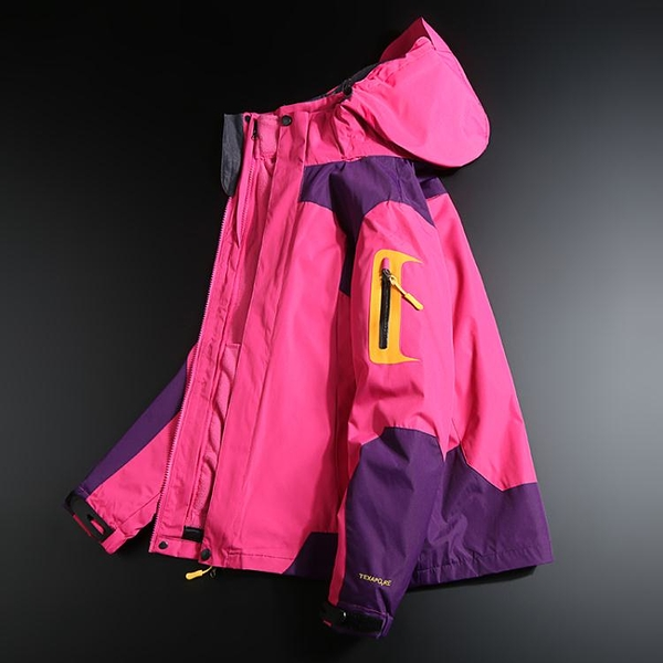 衝鋒衣 沖鋒衣女潮牌韓國三合一可拆卸加絨加厚防水防風登山滑雪服男外套 阿薩布魯