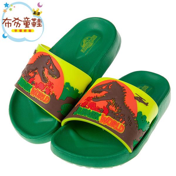 《布布童鞋》侏儸紀公園綠色暴龍兒童超輕量輕便拖鞋(15~20公分) [ M8B796C ]