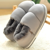 棉拖鞋男包跟大碼棉拖鞋新款秋冬季室內厚底家居防滑家用加絨保暖棉鞋女 qf35268【MG大尺碼】