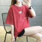 網紅t恤女ins潮超火純棉短袖大碼體恤夏季韓版寬鬆半袖原宿風上衣【快速出貨】