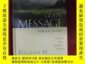 二手書博民逛書店god罕見s message for each day:原版英文